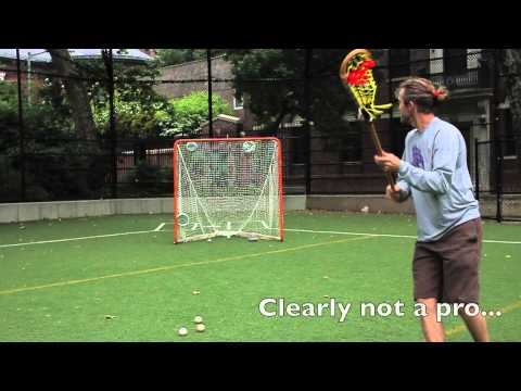 Shooting With A Wooden Lacrosse Stick Youtube