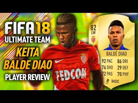 FIFA 18 KEITA BALDE DIAO (82) *92 PACE* PLAYER REVIEW! FIFA 18 ULTIMATE TEAM!