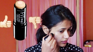 NEW Maybelline FIT ME Shine Free Stick Foundation First Impressions Wear Test