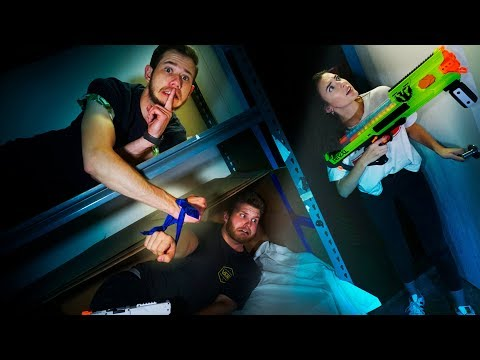 NERF Hide and Seek ChallengeIN THE DARK!