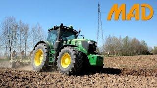 John Deere 6215r Plowing Harrowing And Transport