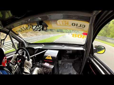 Nürburgring Nordschleife Onboard 24h Rennen Clio Cup Bohemia 2012 - Hero2 Gopro