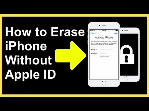 How to erase all content and settings on iphone without password