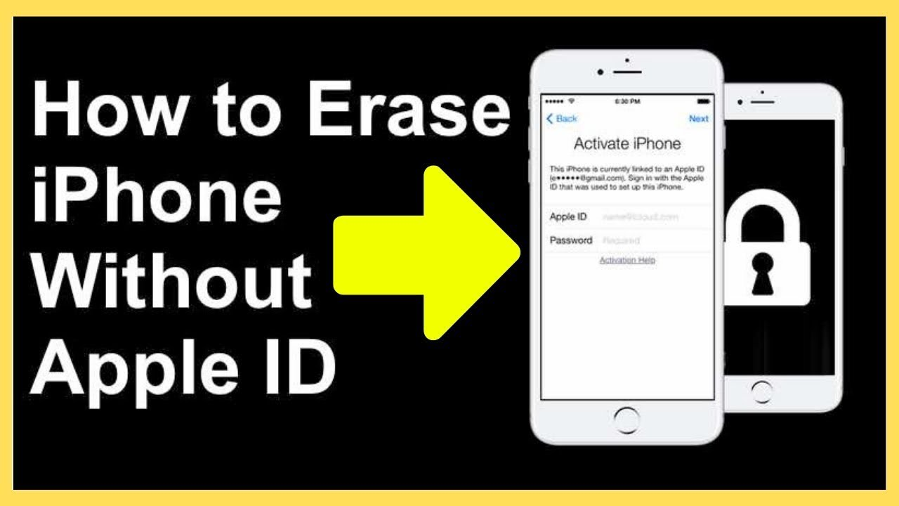 How to Erase iPhone Without Apple ID - YouTube