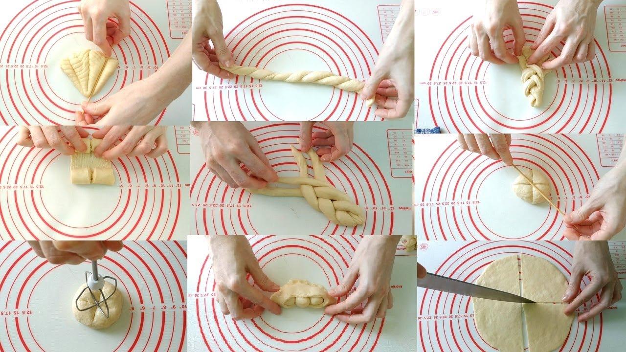 18 новых ФОРМ для БУЛОЧЕК. Способы формирования булочек. 18 Different Creative Shape Bread Rolls.