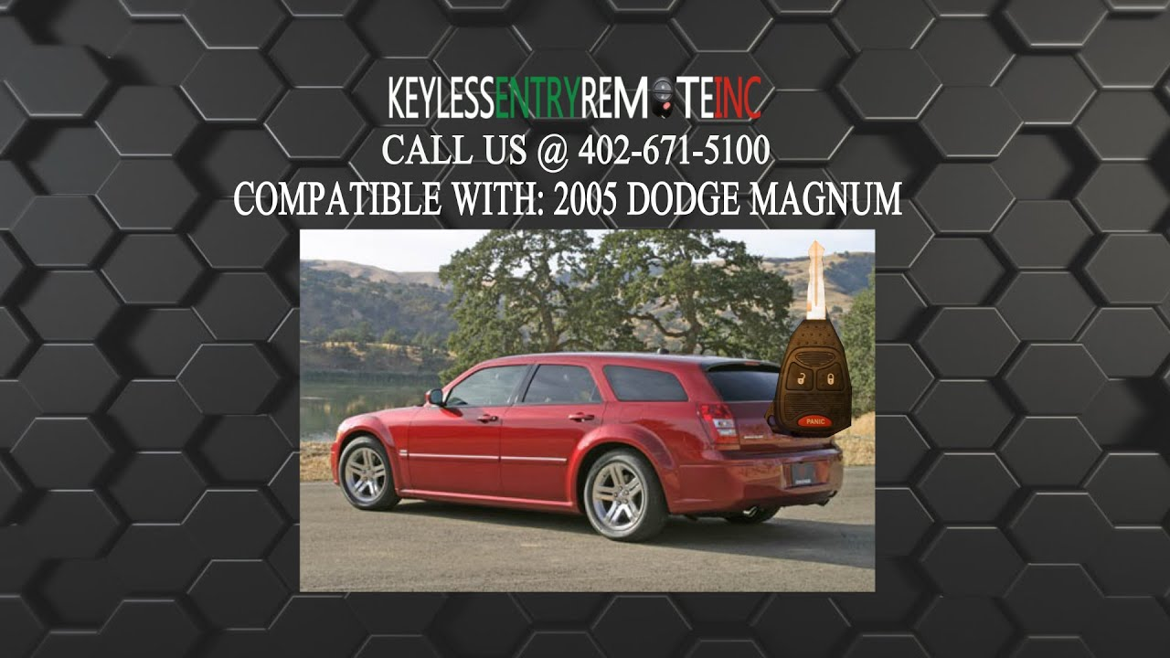 How To Replace Dodge Magnum Key Fob Battery 2005