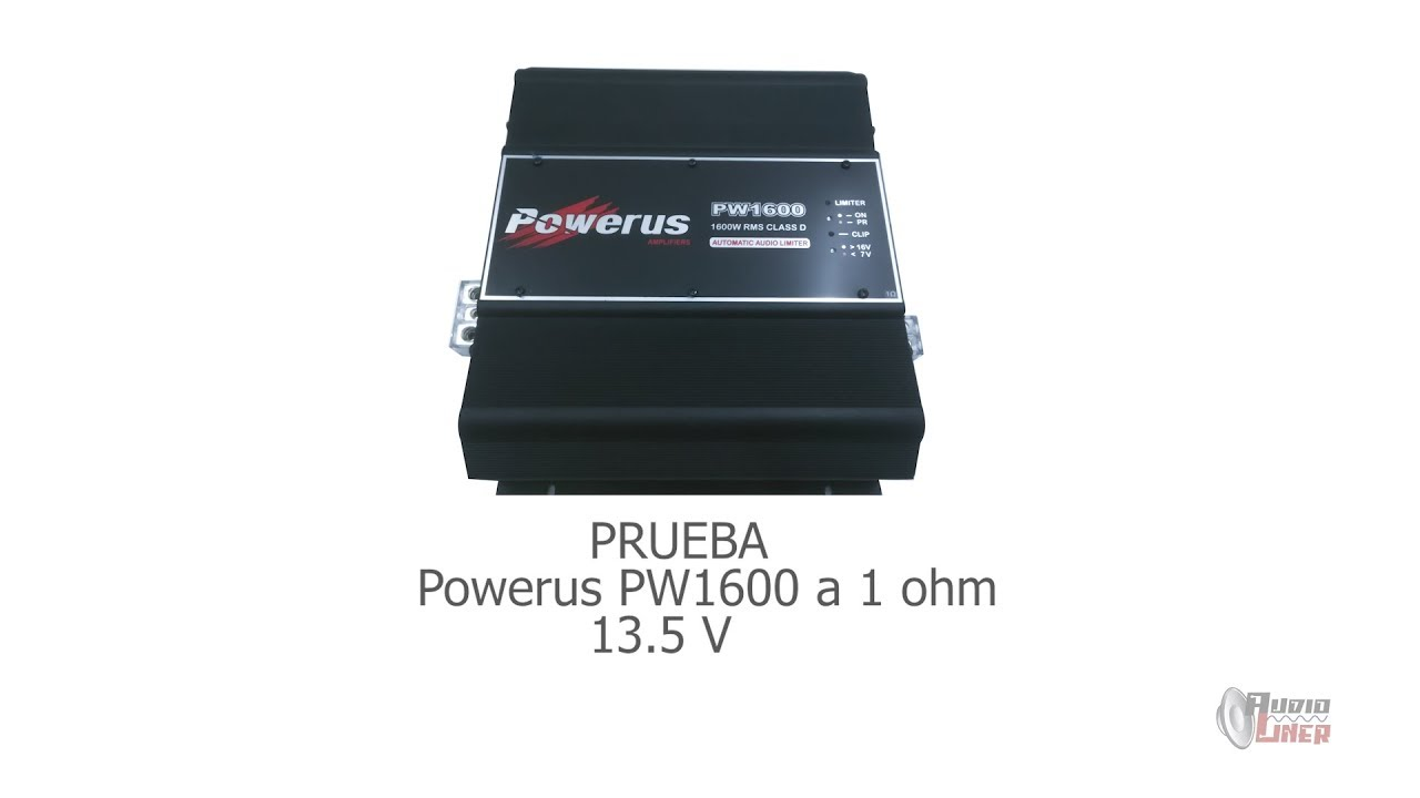 ¡GRANDES RESULTADOS! TEST POWERUS PW1600 1 OHM & SUB HIPPOXL122R MASSIVE-ZONA DE PRUEBA AUDIOLINER