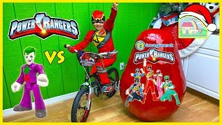 Biggest Power Rangers Toys Surprise Egg Opening Ever with Dino Charge Red Ranger!