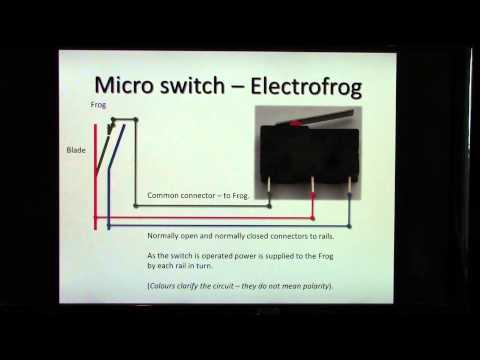 How to use a micro switch for frog polarity and LED signalling