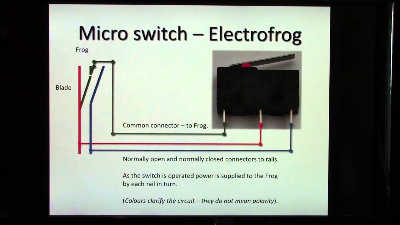 how to use a micro switch for frog polarity and led signalling youtube rh youtube com micro switch tap wiring diagram micro switch tap wiring diagram