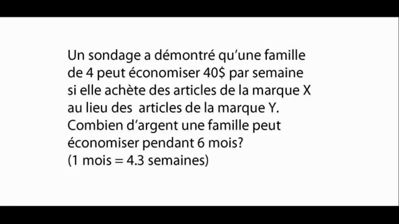 Favori Exercice de mathématiques - Secondaire 1 - Exercices de math - YouTube XS34
