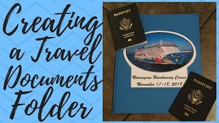 Cruise Tips: Creating a Travel Documents Folder