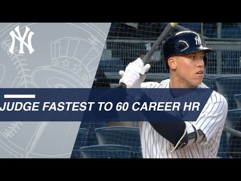 Judge Becomes Fastest To Reach 60 Career HRs