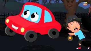 Little Red Car In The Scary Woods | Car Rhymes And Songs For Children