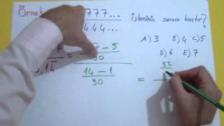 Rasyonel Sayılar 4 Şenol Hoca Matematik