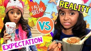 Fall Break Expectations Vs Reality - Fun Comedy Video Fall 2017 : The Evangeline Show // GEM Sisters