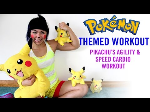 Pikachu 'Agility & Speed' Bodyweight Cardio Workout | 30 Day Challenge Day 1 | Pokémon Themed