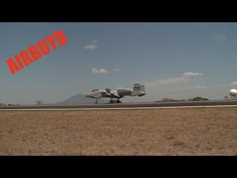 A-10 Warthogs Landing Clark Air Base