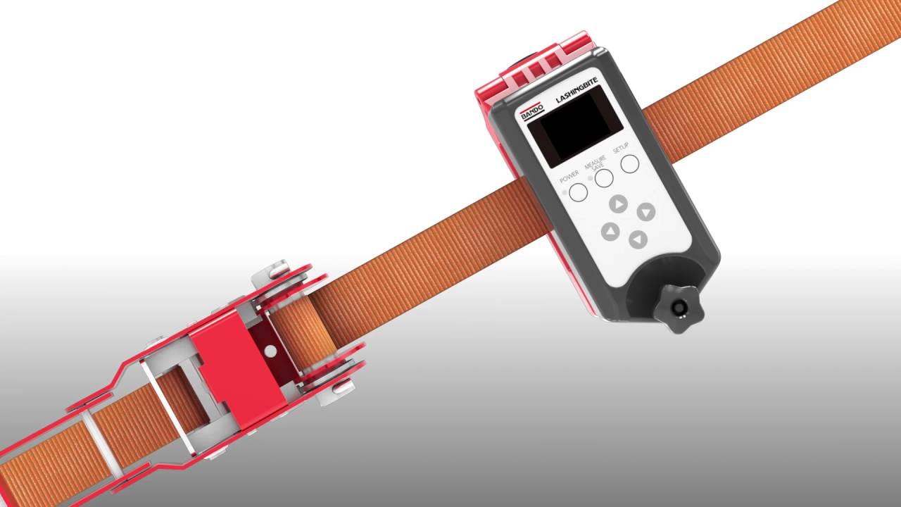 V Belt Tension Meter : Tension meter for lashing belt quot bite youtube