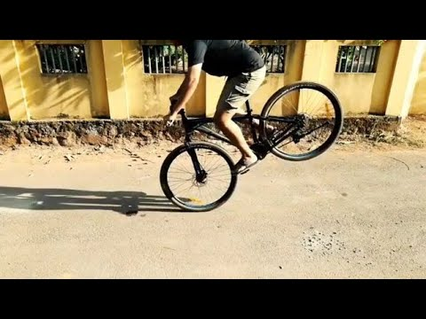 How To STOPPIE ON A Mtb/malayalam