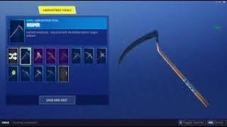 Fortnite scythe pickaxe ( the reaper pickaxe ) New item shop today