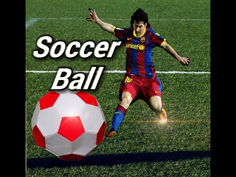 How to make a paper Soccer Ball