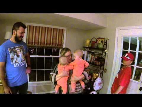Best Twin Baby Surprise for Grandma - Meets Grandbabies for the first time! Priceless Surprise!