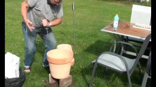 Build your own Smoker of two Flowerpots