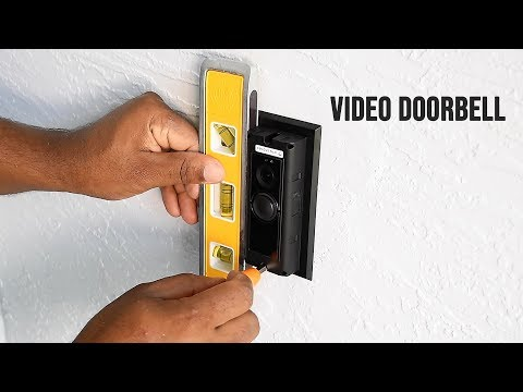 How to patch a hole in an exterior stucco wall + ( Ring doorbell installation )