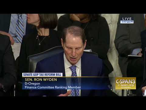 Wyden: Statement on New Senate Republican Tax Bill