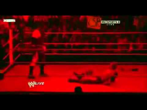 WWE RAW 1-2-12 Kane Attacks Zack Ryder and John Cena