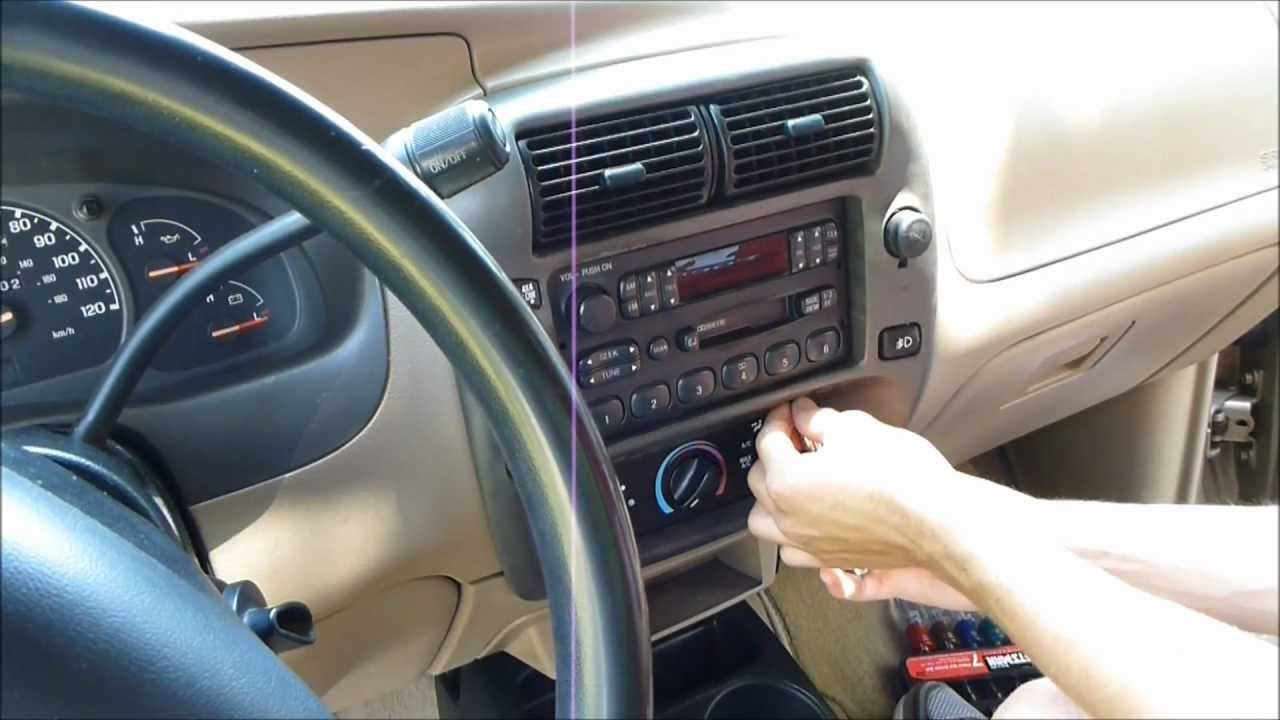 How To Remove And Replace The Radio In A Ford Mazda Youtube 1994 B4000 Fuse Panel Diagram