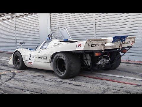 1970 Porsche 917K: Warm Up, Demonic Downshifts & RAW Flat-12 Sound!