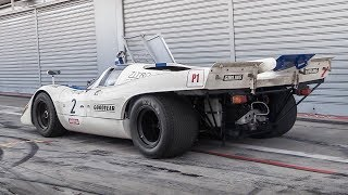1970 Porsche 917K: Warm Up, Demonic Downshifts & RAW Flat-12 Sound!