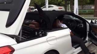 BMW6シリーズカブリオレの幌の開き方