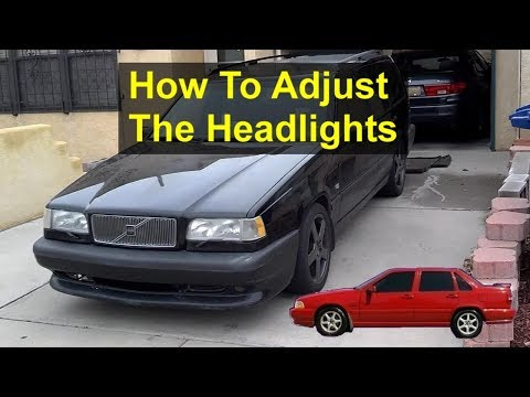 how to adjust the headlights in your p80 volvo 850 s70 v70 etc rh youtube com 1997 volvo 850 repair manual 1997 volvo 850 manual pdf