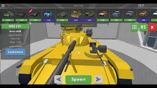 ROBLOX - destroying all tanks! :O [car crushers 2]
