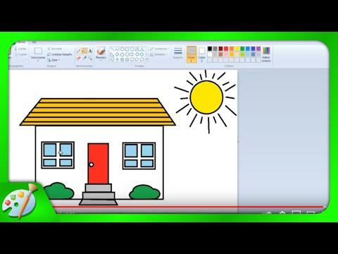 Dibujos para ni os c mo aprender a dibujar una casita con paint youtube - Imagenes de casas para dibujar ...