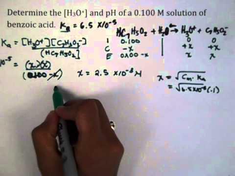 Solution of Benzoic Acid