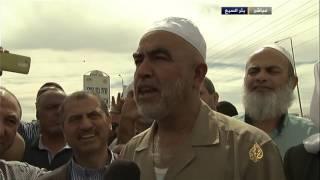 الشيخ رائد صلاح قبل تسليم نفسه مرحبا بالسجون نصرة للمسجد الأقصى