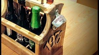Pallet Wood Beer Tote #1