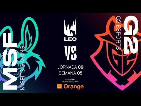 MISFITS VS G2 ESPORTS | LEC | Spring Split [2019] League of Legends thumbnail