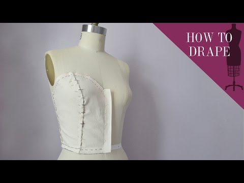 How To Drape A Sweetheart Strapless Bodice