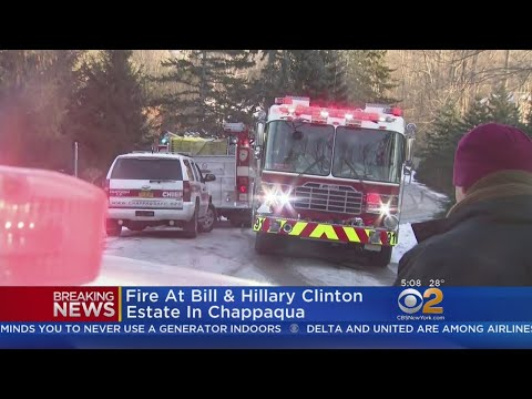 Fire Breaks Out At Clintons' Chappaqua Home
