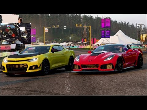 2018 Camaro Zl1 Vs 2019 Corvette Zr1 Forza Horizon 4