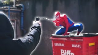 SPIDERMAN DIES FIGHTING CRIME in Real Life | Parkour & Flips
