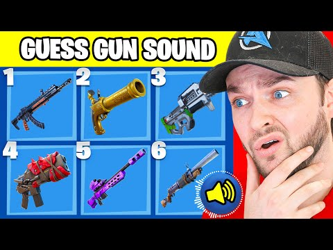 GUESS the Fortnite GUN by the *SOUND*! (Fortnite Challenge)