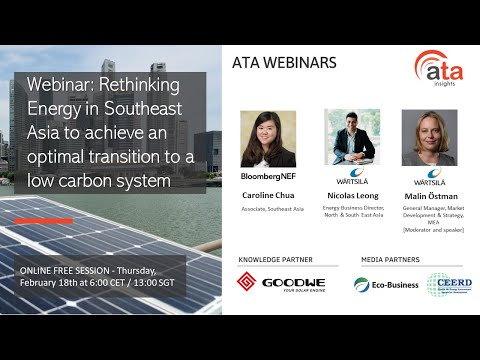 Webinar: Rethinking Energy in Southeast Asia to achieve an optimal transition to a low carbon system