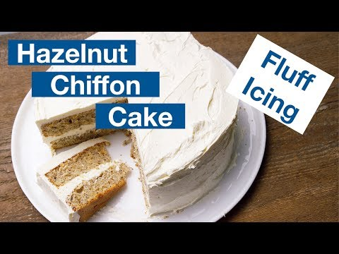 Hazelnut Chiffon Cake With Marshmallow Fluff Icing || Le Gourmet TV Recipes