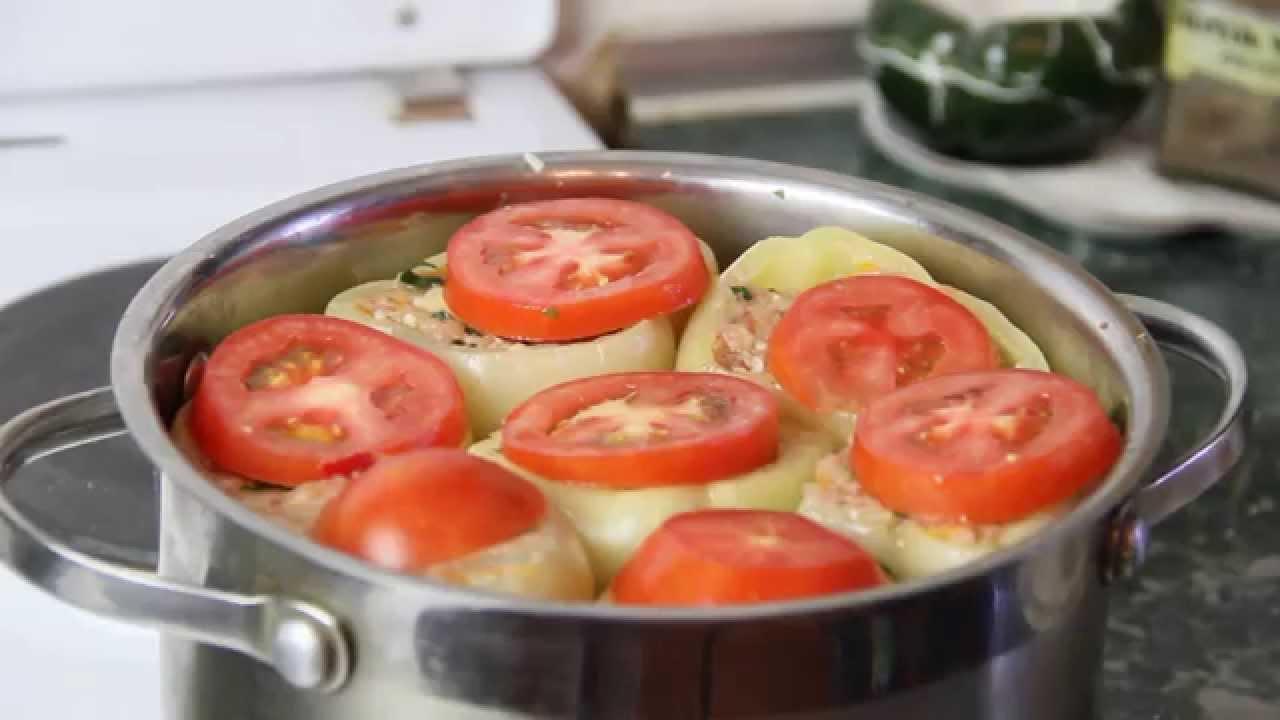 фаршированный перец с мясом и рисом пошаговый рецепт с фото
